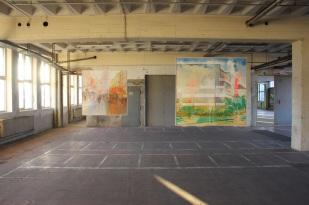 Julia Frischmann Kohelet, 2013 2 hängende Bildobjekte | Öl auf Leinwand B-3, 150 x 155 cm B-4, 150 x 150 cm B-5, 150 x 155 cm Li-4, 150 x 150 cm