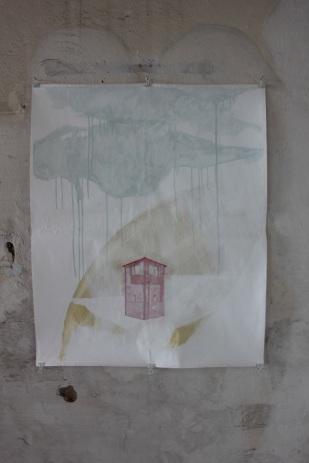 Meike Lohmann Tower, 2012 Mischtechnik auf Papier 82 x 67cm